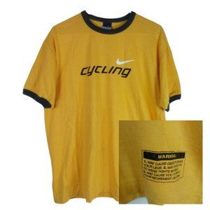Nike Mens Vintage Cycling Ringer Tee Made USA